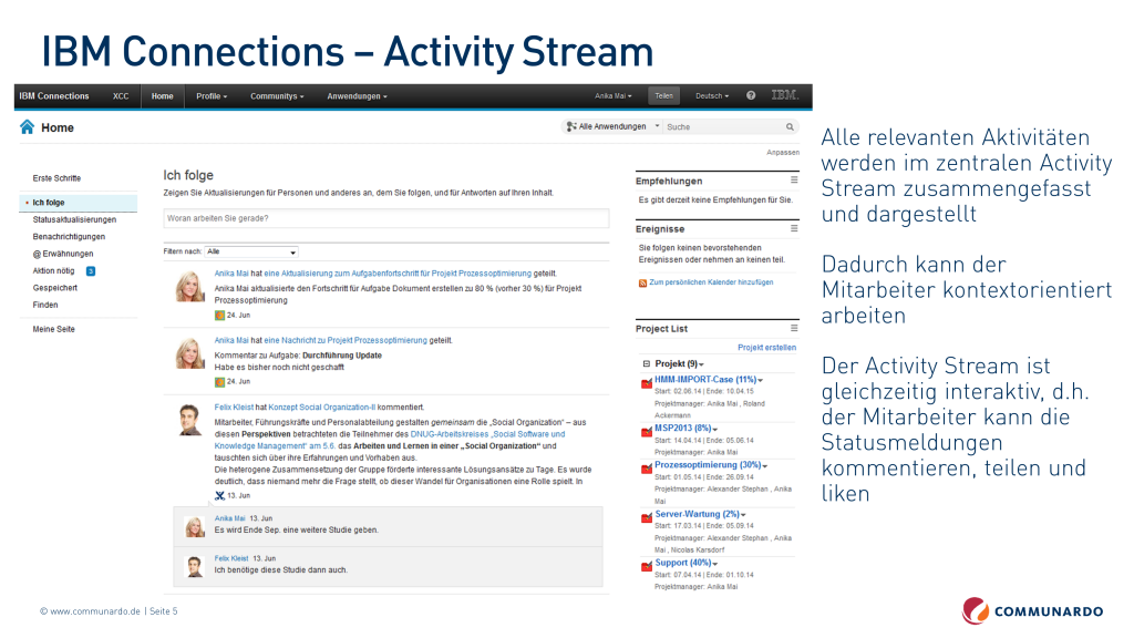 IBM Connections Activity Stream