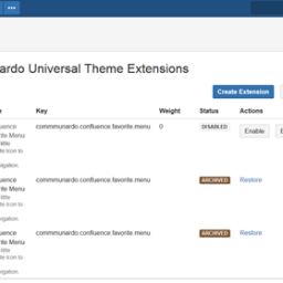 Versioning of extensions with CUTE 1.4