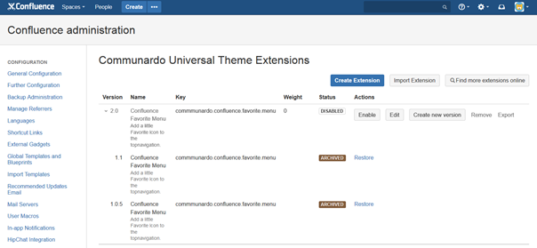 Versioning CUTE extensions with CUTE 1.4