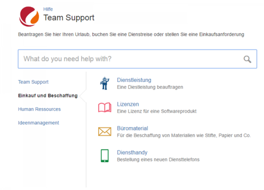 Business-Services mit JIRA Service Desk