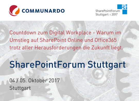 SharePoint Forum Stuttgart am 04./ 05.10.17