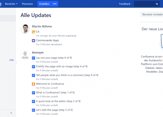 Confluence Server 6.7ReDesign Preview