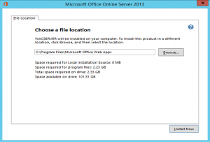 File Location Office Online Server Update