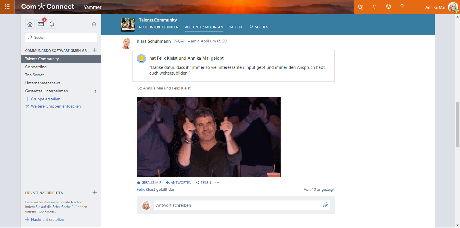 Enterprise Social Network mit Yammer