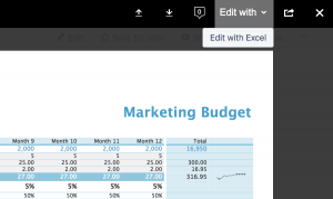 Edit Excel file with Confluence 6.11