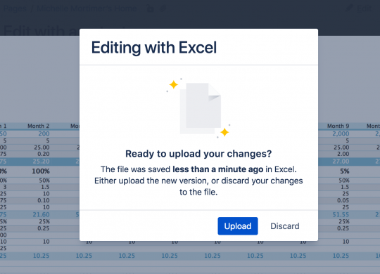 Upload changes to Confluence 6.11