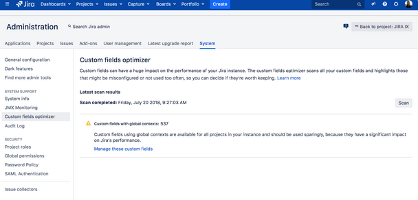 Optimizer Jira 7.12