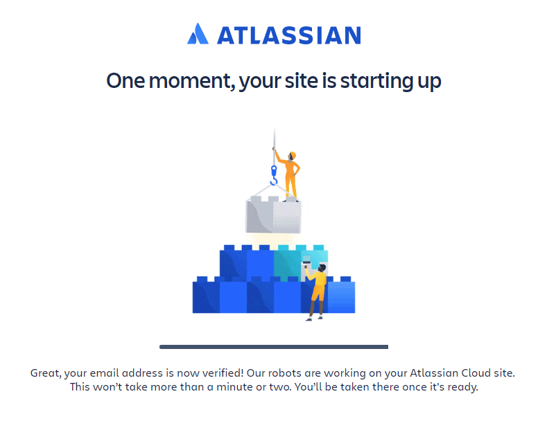 your site is starting up