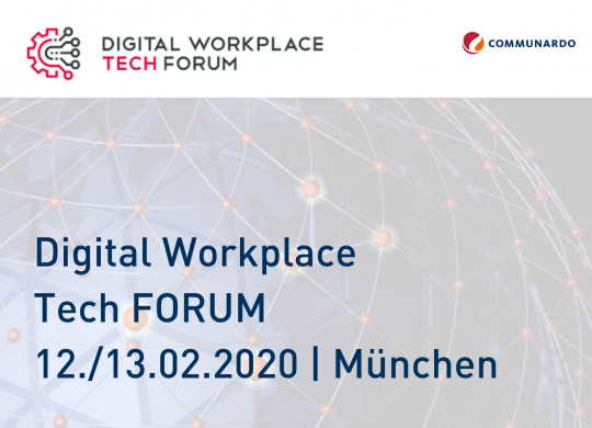 Digital Workplace Tech FORUM - Vorschaubild