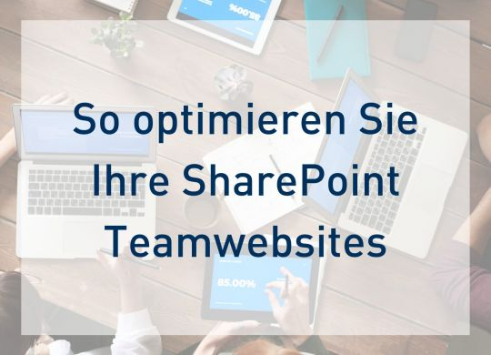 Teamwebsites optimieren