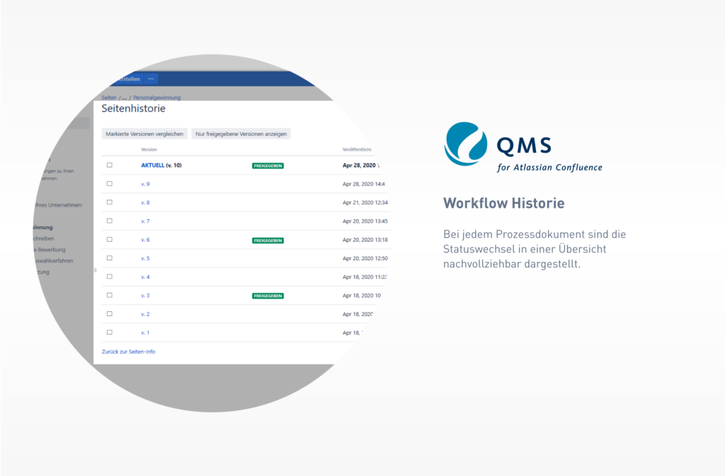 QMS Workflow History