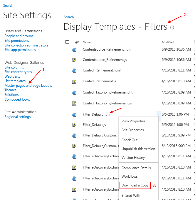 SharePoint-Suche: Download Display Template