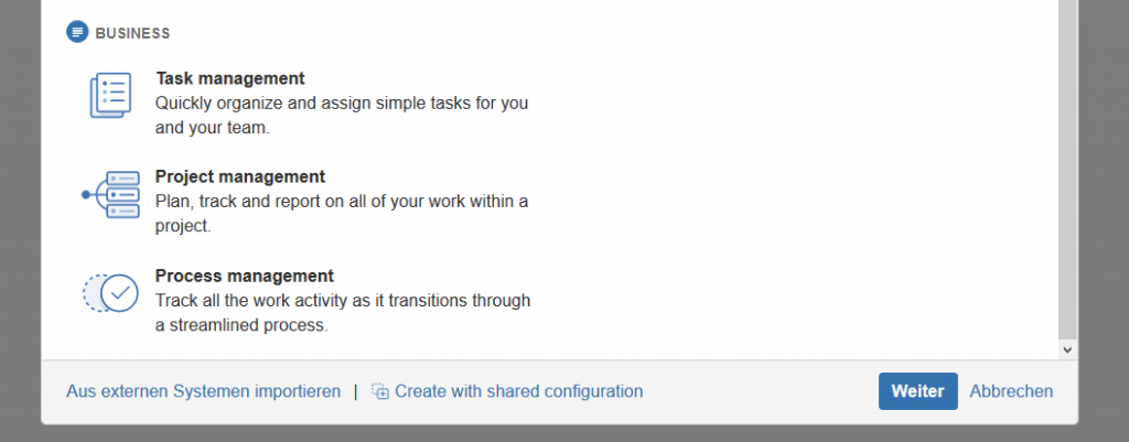 JIRA Core_create with shared config