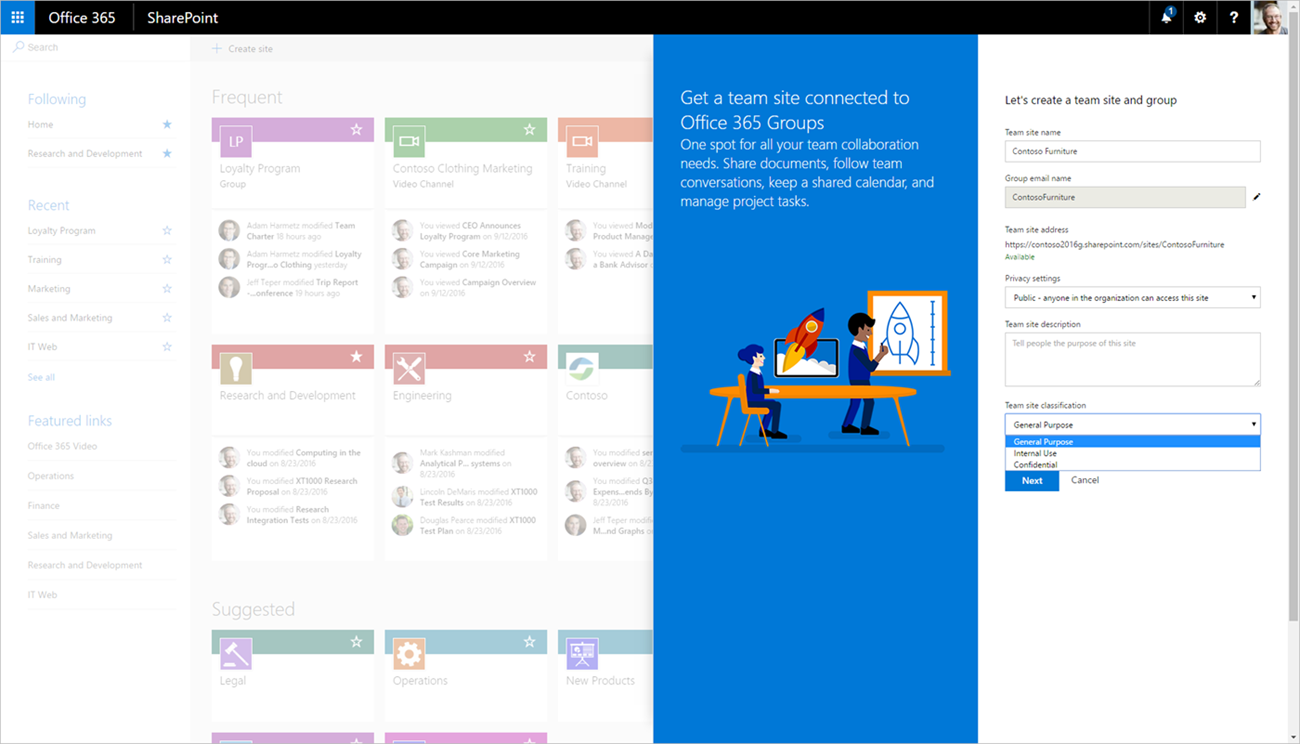 sharepoint-teamsite-und-office-365-group