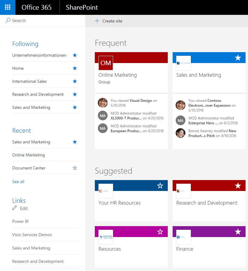SharePoint Home_Office365Journey